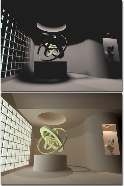 使用光能传递建立全局照明模型