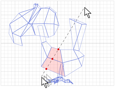 移动线的端点时,可以交互式地对网格执行切片操作.